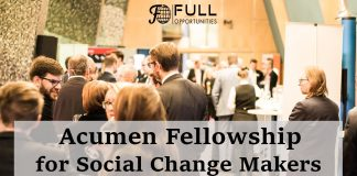 Acumen Fellowship for Social Change Makers