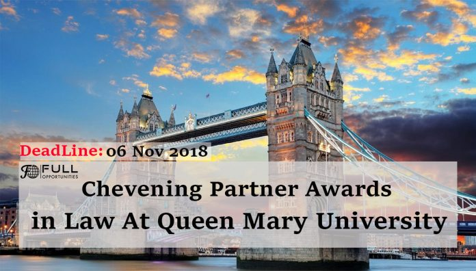 Chevening Partner Awards in Law At Queen Mary University