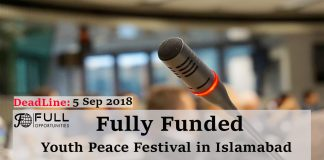 Fully Funded Youth Peace Festival in Islamabad