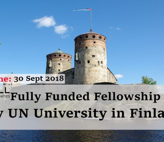 Fully Funded Fellowship by United Nations University in Finland