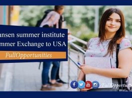Hansen Summer Exchange Program to USA - 2020 (Fully Funded)