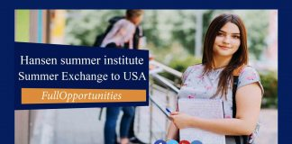 Hansen Summer Exchange Program to USA - 2020 (Fully Funded)