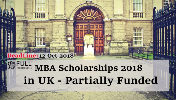 MBA Scholarships 2018 in the UK - Partially Funded Scholarship