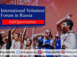 International Volunteer Forum in Russia 2019 (Funded)