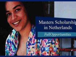 Masters Scholarship in Netherlands