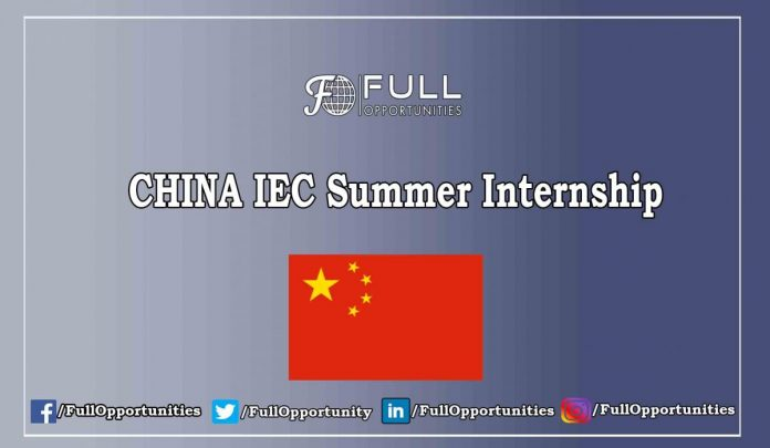 CHINA IEC Summer Internship