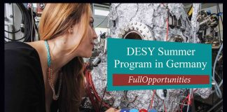 DESY Summer Student Program in Germany 2020 (Fully Funded)