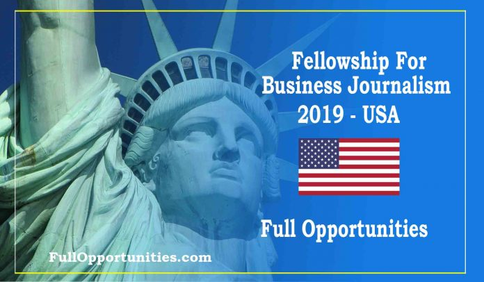 Fellowship For Business Journalism 2019 - USA