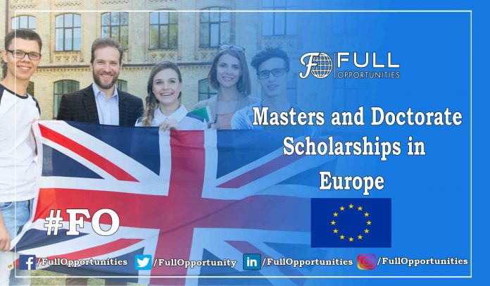 Masters and Doctorate Scholarships in Europe