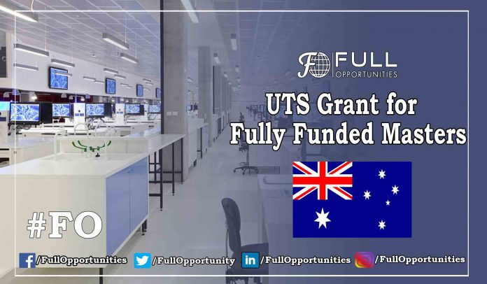 UTS Grant for Fully Funded Masters 2019