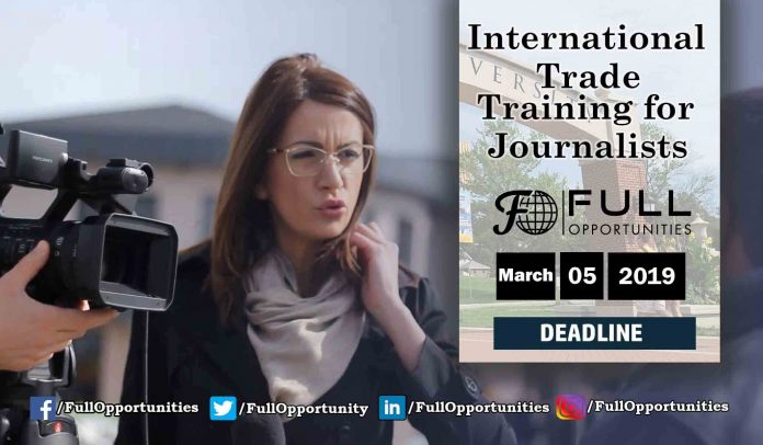 International Trade training for Journalists