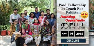Paid Fellowship at Teach For Pakistan