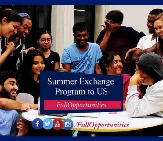 Summer Exchange Program in USA 2020 (Fully Funded)