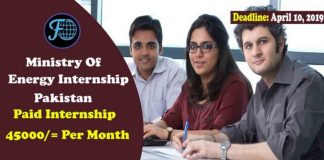 Ministry Of Energy Internship Pakistan