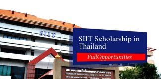 SIIT Scholarship 2020 in Thailand