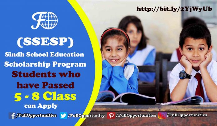 Sindh School Education Scholarship Program 2019-20 (SSESP)