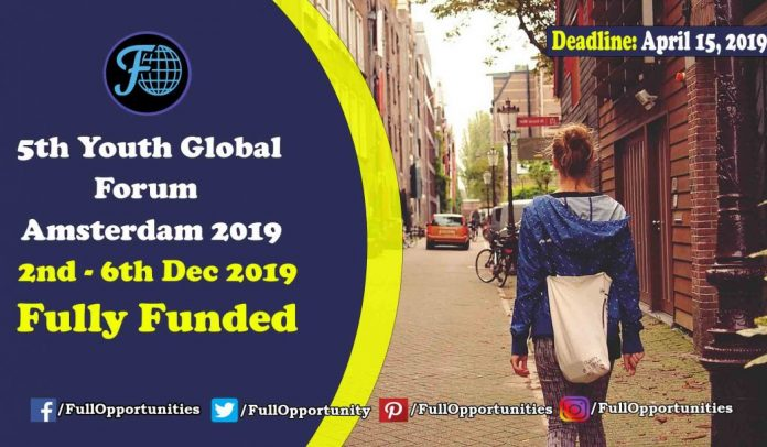 5th Youth Global Forum Amsterdam 2019