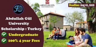 Abdullah Gul University Scholarship in Turkey