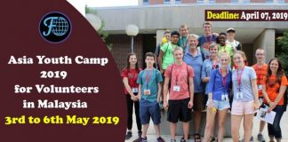 Asia Youth Camp 2019 for Volunteers in Malaysia