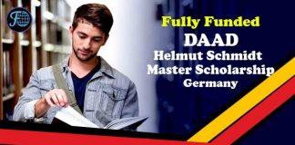 DAAD Helmut Schmidt Master Scholarship: Full Opportunities