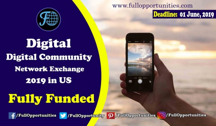 Digital Community Network Exchange Program 2019 in USA (Fully Funded)