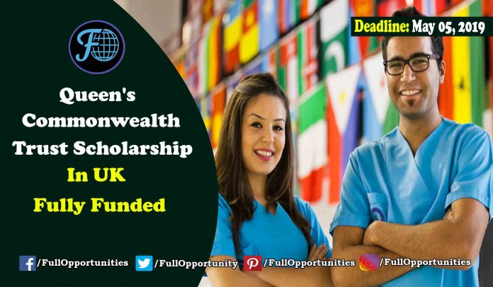 Fully Funded Scholarship: Queen's Commonwealth Trust Scholarship