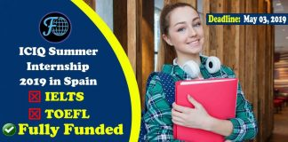 Undergraduate Fully Funded ICIQ Summer Internship Program 2019 in Spain (No IELTS & No TOEFL)