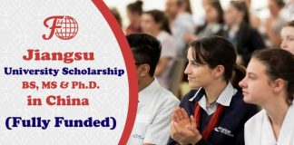 Jiangsu University Scholarship in China