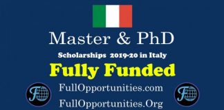 Master and PhD Scholarships in Italy