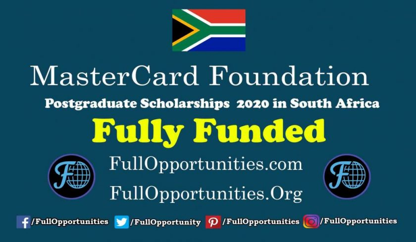 MasterCard Foundation Scholarship 2020 program