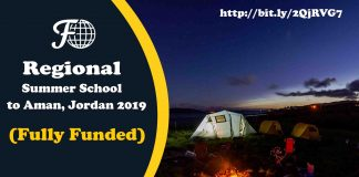 Regional Summer School to Aman, Jordan 2019 (Fully Funded)