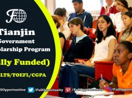 Tianjin Government Scholarship Program