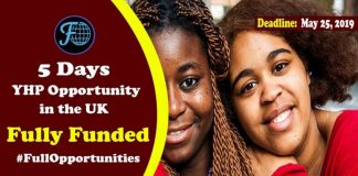Young Health Program in the UK 2019 - Fully Funded