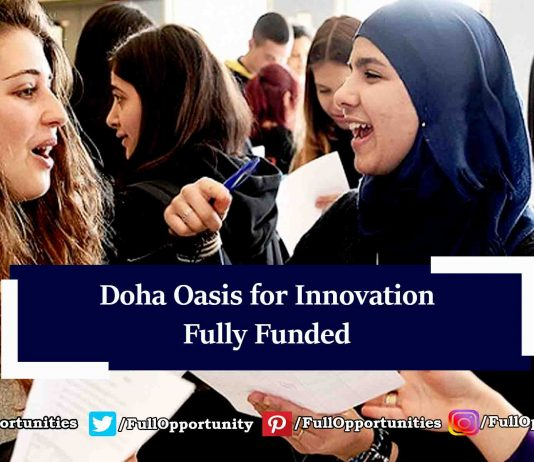 Doha Oasis for Innovation 2019 - Fully Funded Conference