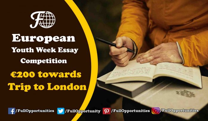 European Youth Week Essay Competition 2019