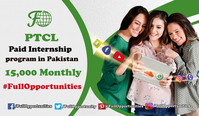 PTCL Internship program in Pakistan - 15,000 Monthly Stipend