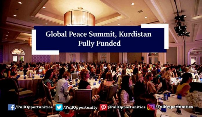 Global Peace Summit, Kurdistan 2019 (Fully Funded)