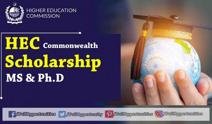 HEC Commonwealth Scholarship