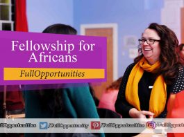 Fellowship for Africans 2020 - Fully Funded Camp
