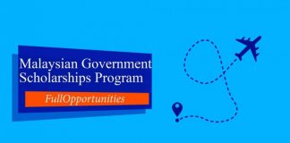 Malaysian Government Scholarships 2019 For International Students
