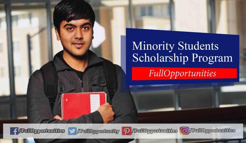 Minority Students Scholarship Program - Year 2019-20