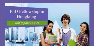 PhD Fellowship in HongKong 2020 For International Students