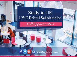 UWE Bristol Postgraduate Scholarships in UK 2020