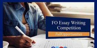 Essay Writing Competition 2019 by Full Opportunities