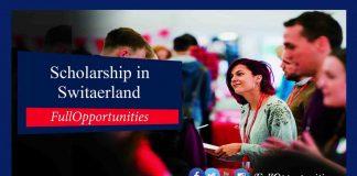 ETH Zurich Excellence Scholarship in Switzerland