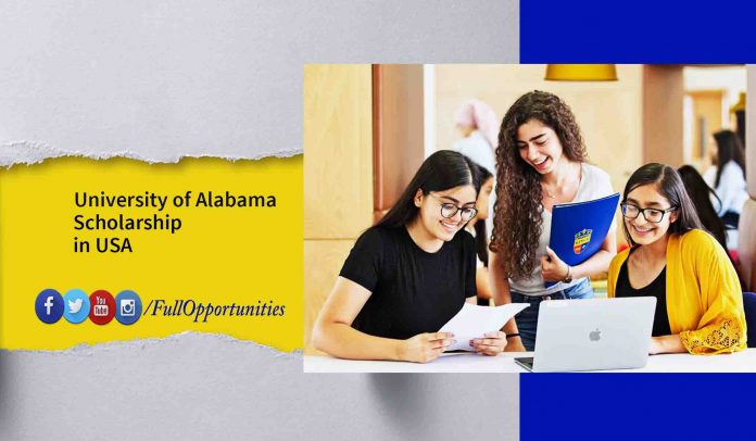 University of Alabama Scholarship in USA