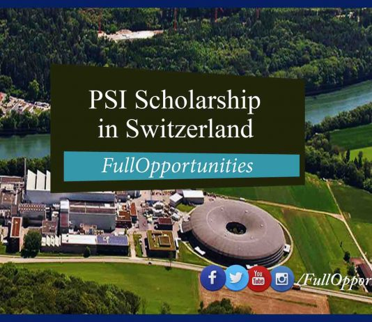PSI Scholarship program in Switzerland