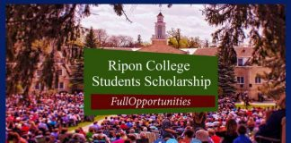 Ripon College International Students Scholarship