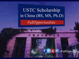 USTC Scholarship in China