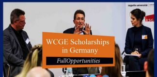 WCGE Scholarships in Germany